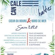 Ville de Cancale - Identité graphique et affiche Festiv'haltes