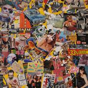 @ ERIK BONNET : Carambo-collages 2, techniques diverses sur toile, 2010