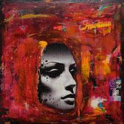 @ ERIK BONNET : Love 011, techniques diverses sur toile + néons, 2010