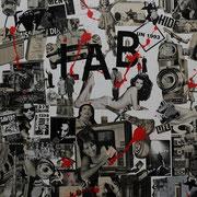 @ ERIK BONNET : Carambo-collages 3, techniques diverses sur toile, 2010