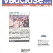 article vaucluse matin du 10 juillet 2015