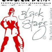 Flyer, exposition Black Stage, Karlsruhe, Allemagne
