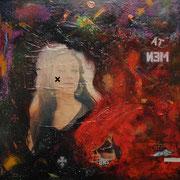 @ ERIK BONNET : Devil in miss jones, techniques diverses sur toile, 2010