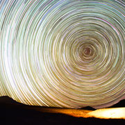 Startrail. Sony A7s camera, 28mm f2.8 lens. 521X20 seconds.