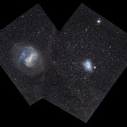 Mosaic of Large and Small Magellanic Clouds. Sony A7s camera, 50mm f1.8 lens