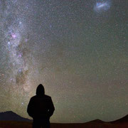 Me, the Milky Way, the Magellanic Clouds and 4 meteors in just 30 seconds