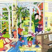 Schatzssuche im gelben Haus, Doppelseite 2, Langenscheid Verlag 2012