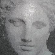 """détaile de la mosaïque """"la Venus d'Arles"""""""