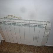 Calefactores calor azul bajo consumo en toda la vivienda.