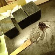 「錆」を作って凸凹を埋めます