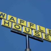 Auf dem Weg nach Orlando gibts noch Frühstück im Waffle House... lecker... :-)