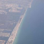 Und schon im Landeanflug über Miami...