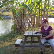 Unser zweiter Platz zum Übernachten in den Everglades...