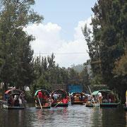 Xochimilco, barche