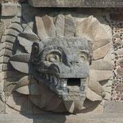 Teotihuacan, Testa Serpente Piumato , Quetzalcoal