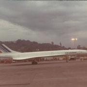 un aereo Concord a Città del Mexico