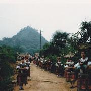 Villaggio Miao, accesso - Miao village, entrance