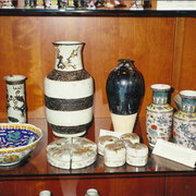 Portapennelli Ming, Vaso bianco/marrone Dinastia Qing, vaso Meiping, Song - brush holder Ming, vase white/brown Qing, vase Meiping, Song
