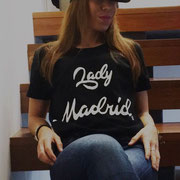 Rocío con camiseta Lady Madrid