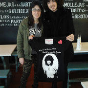 "Isma Romero con camiseta ""Isma Romero"" Suances 31/01/2015"