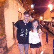"""Con Jon (de Bilbao) en el concierto de Sidecars de Santander. Lleva camiseta """"Francesita"""". Yo llevo """"mi mejor versión"""""""