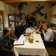 8.Feb.18: COT d Toastmasters HN - Abeitstreffen mit römischem Ambiente - Vorträge zum Limes und Imbiss Moretum (vor der Pizza)