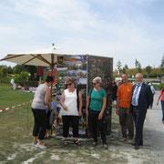 auch Aussteller mit der Gemarkung Widdern mit markiertem Limes und Bildercollage der schönsten Bilder aus Widdern
