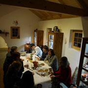 am 3. Januar als früheste Veranstaltung im Jahr - ein römischer Abend mit Führung, Vorträgen und römischer Speisenfolge - mit freundlicher Genehmigung durch das Ingenieurbüro Edelbluth&Dauber