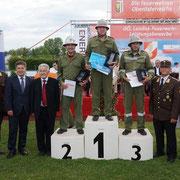 HBI Herbert Pramendorfer bei der Siegerehrung zum 1. Platz in Silber