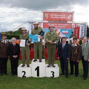 AW Mario Forstinger bei der Siegerehrung zum 2. Platz in Bronze