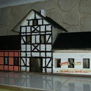 Fachwerk und Fenster fast fertig