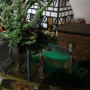 Mit selbstgebauten Baum Januar 2016