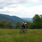 Mountainbiken in toller Landschaft