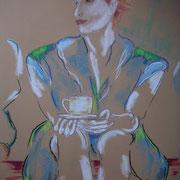 Kaffeeklatsch 2 (Pastell)
