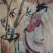 Bambus und Japanerin