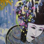 Geisha blau
