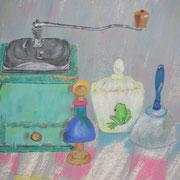 Meine Kindheit (Gouache und Pastell)