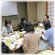 和風文庫カバー作りに最適な、和室で開催