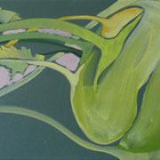 barocke Kohlrabi | Acryl auf Leinwand | 60 cm x 30 cm | 2009