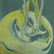 barocke Kohlrabi 2 | Acryl auf Leinwand | 30 cm x 30 cm | 2009