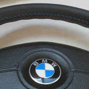 ///М5. автомобильная кожа + заводская спецподложка (руль мягкий и толстый)