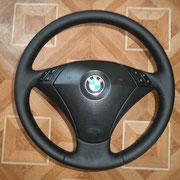 BMW, черная автокожа, черная нить