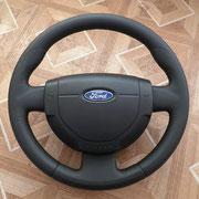 Форд фиеста: после перетяжки - черная кожа, черная нить