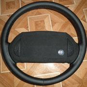 Бьюик, черная автокожа, подушка - черная алькантара, черная нить