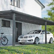 Alu Carport am Haus