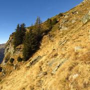 Passaggio esposto vicino alla Bocca d'Vegeina