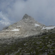 In cima alla cresta a quota 2715 m