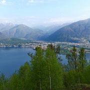 Dai Monti di Gerra 818 m verso Ascona