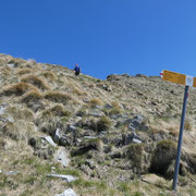 Passo della Maggia 1972 m, Luciano di ritorno dal Madone