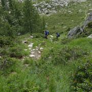 Risaliamo il valloncello che ci porta nella Valle d'Arbedo